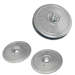 00101E: 70mm Disc Rudder Anode (pair)