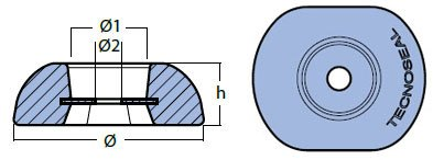 00102UK Disc Anode Technical Drawing