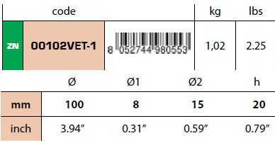 00102VET-1 Disc Anode Technical Specifications