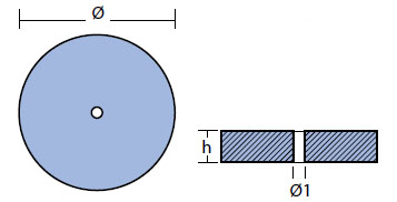 00102VET Disc Anode Technical Drawing