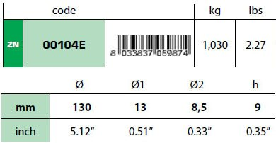 00104E Disc Anode Technical Specifications