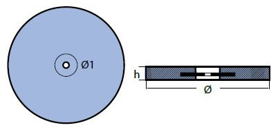 00156 Disc Anode Technical Drawing