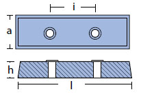 TEC-BT Plate And Bar Hull Anode Technical Drawing
