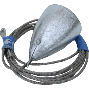 ZD57 2.2KG Zinc Hanging Anode 3.0M Cable And Gib Eye